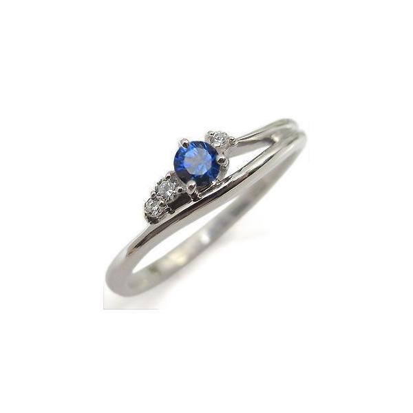 K10 サファイヤリング 一粒 シンプル 10金 サファイア 指輪