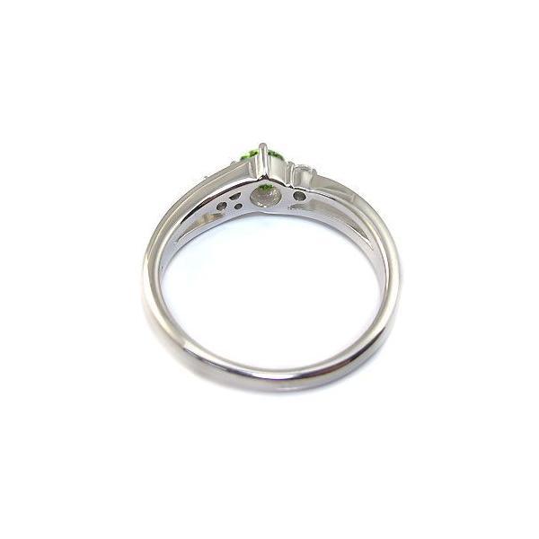 ペリドットリング シンプル 一粒 リング プラチナ 指輪