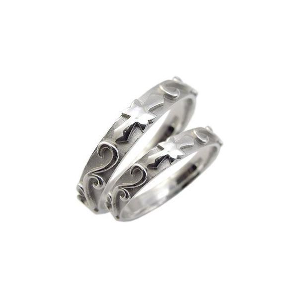ペアリング プラチナ 結婚指輪 クロス マリッジリング