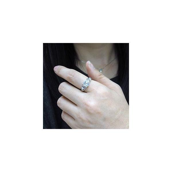 婚約指輪 格安 キュービックジルコニア リング 大粒 シルバー