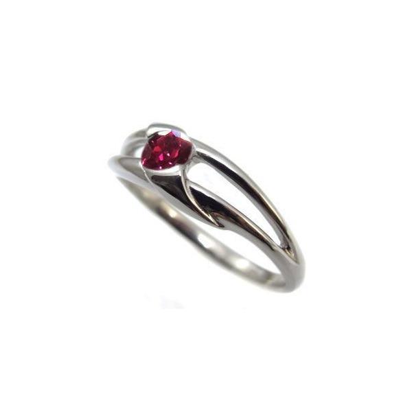 プラチナ ルビー リング 一粒 指輪