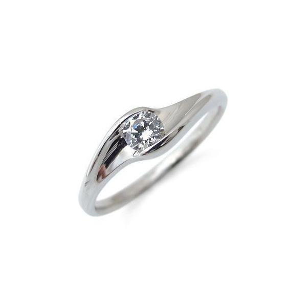 鑑定書付き(婚約指輪)0.3ctダイヤモンド・エンゲージリング・K18・ダイヤモンドリング