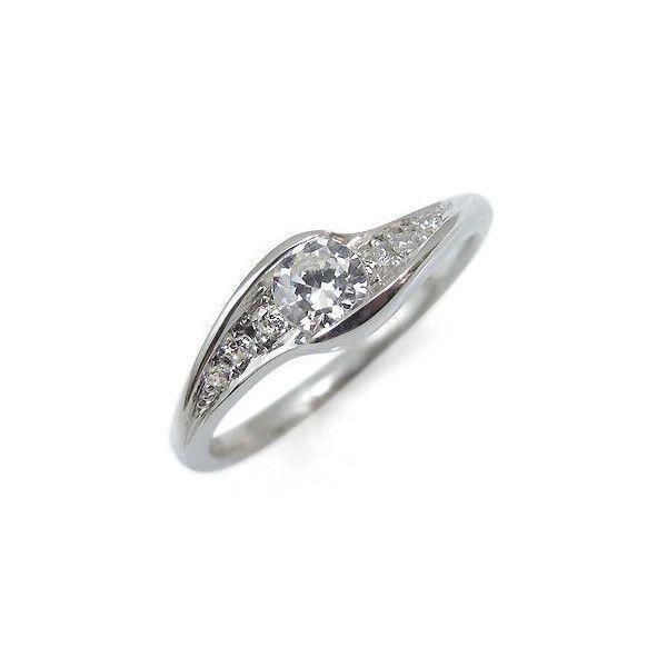 プラチナ ダイヤモンド エンゲージリング 婚約指輪
