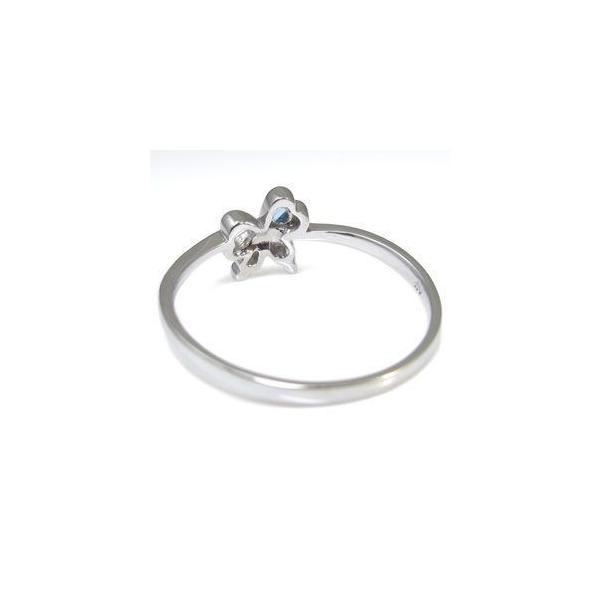 ファランジリング プラチナ 蝶 リボン リング 選べる誕生石 一粒 指輪