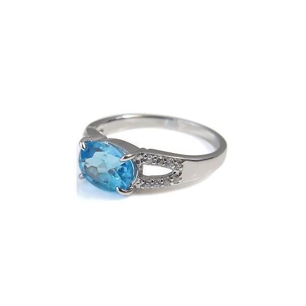プラチナ リング 指輪 大粒 ブルートパーズ 指輪 リング