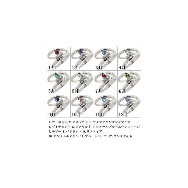 ファランジリング 選べる誕生石 天然石 指輪 プラチナ ピンキーリング