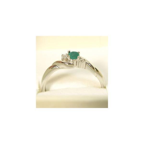 プラチナ エメラルドリング 指輪