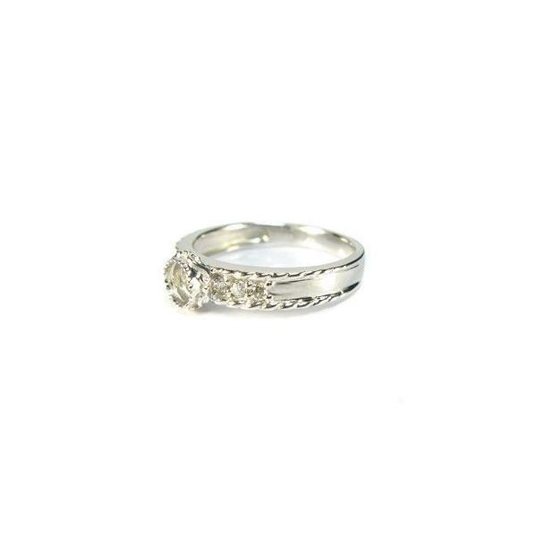 ローズカットオレンジサファイア プラチナリング ダイヤモンド付 指輪