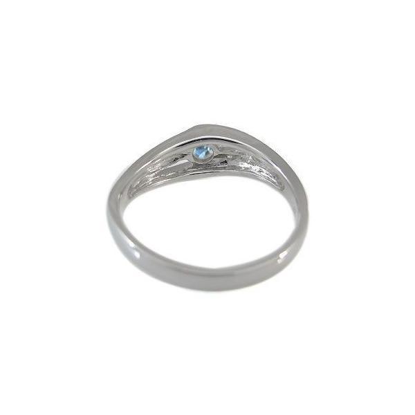 エンゲージリング アクアマリン リング 一粒 プラチナ 婚約指輪