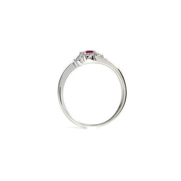 プラチナ リング ルビー 指輪 一粒 シンプル リング
