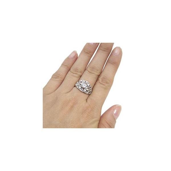ダイヤモンド リング 鑑定書付き プラチナ 一粒 指輪