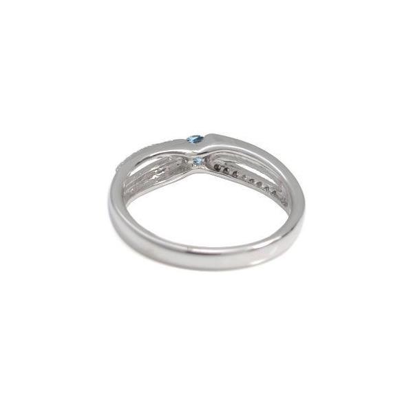 プラチナ 指輪 3月誕生石 一粒 アクアマリンサンタマリア リング