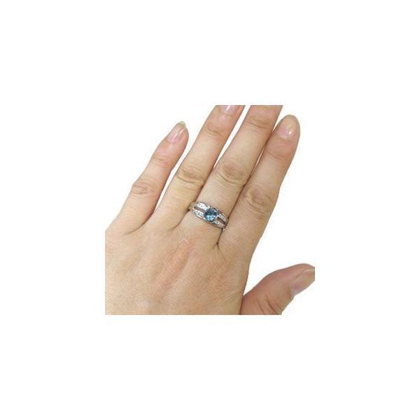 プラチナ リング 指輪 大粒 ブルートパーズ リング