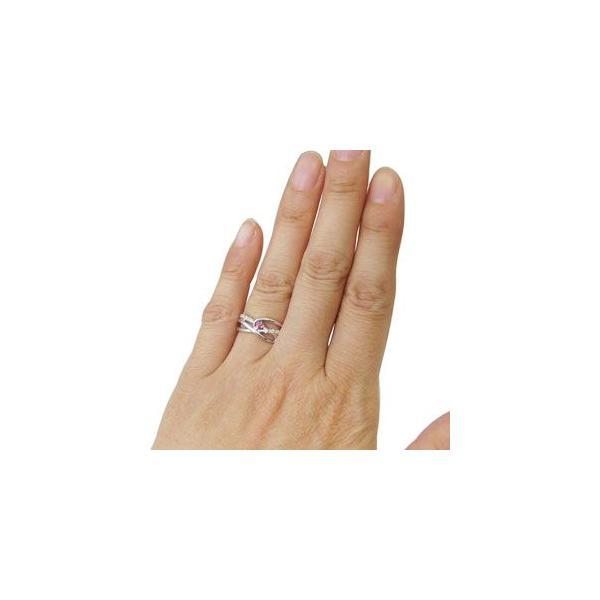 プラチナ リング ピンクトルマリン 指輪 一粒 リング
