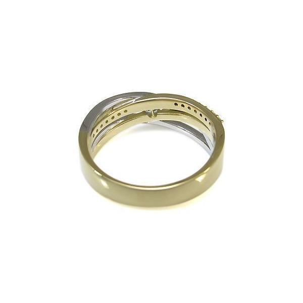 コンビ リング 18金 プラチナ 一粒 エメラルド 指輪