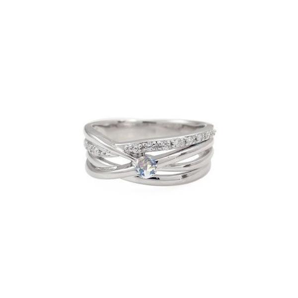 プラチナ リング ロイヤルブルームーンストーン 指輪