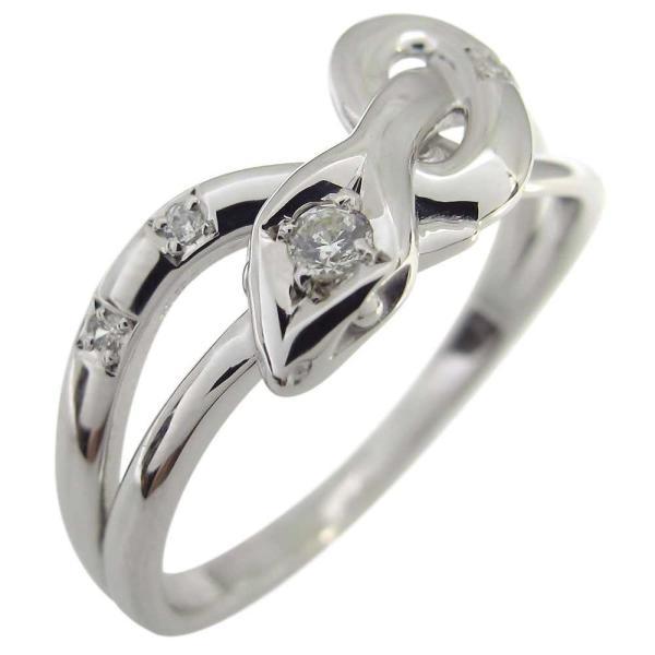 プラチナ ダイヤモンド 蛇 スネーク リング 指輪