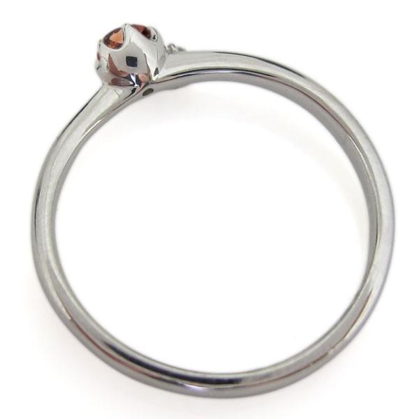 エンゲージリング ガーネット 婚約指輪 安い シンプル レディース