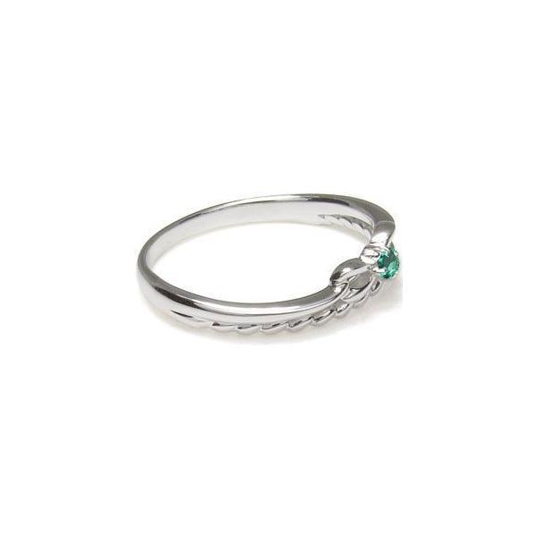 ファランジリング プラチナ ピンキーリング リボン 指輪 選べる誕生石 ロープ