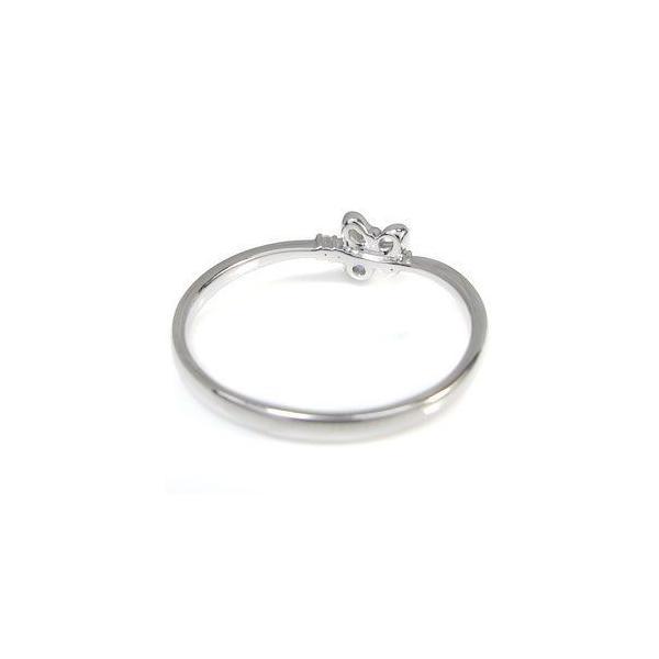 タンザナイト 10金 指輪 リング 一粒 リボン リング ファランジリング