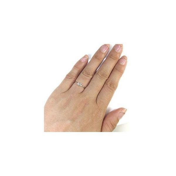 ペリドット 10金 指輪 リング 一粒 リボン リング ファランジリング
