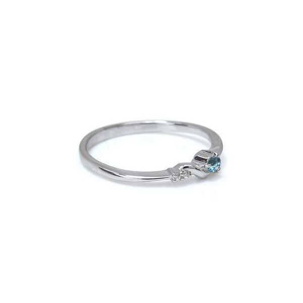 ファランジリング ピンキーリング ブルートパーズ シンプル リング 10金 指輪