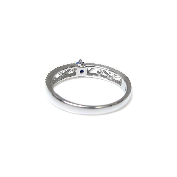 プラチナ 唐草 リング サファイア 王冠 指輪