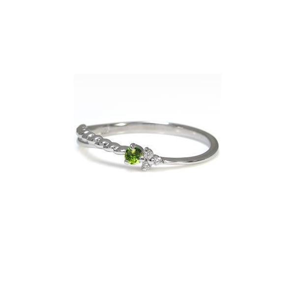 プラチナ ピンキーリング 誕生石 指輪 華奢 ファランジリング