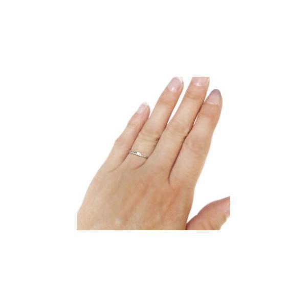 プラチナ ミディリング ダイヤモンド ピンキーリング ダイヤモンド ファランジリング 指輪