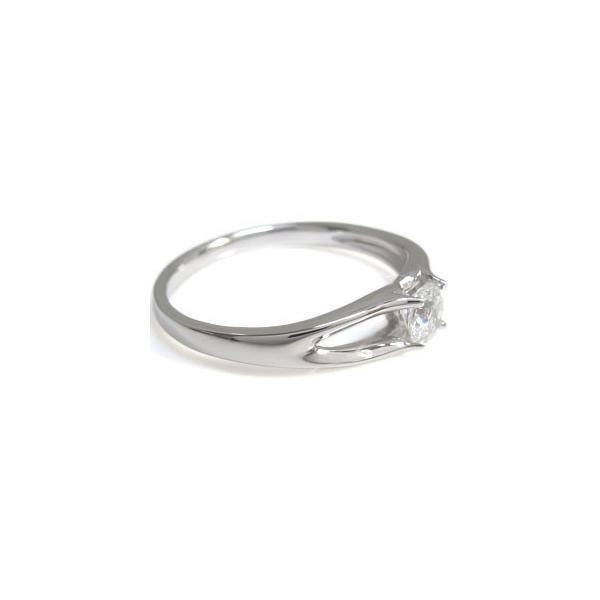 プラチナ ダイヤモンド 鑑定書 SI エンゲージリング ダイヤモンドリング