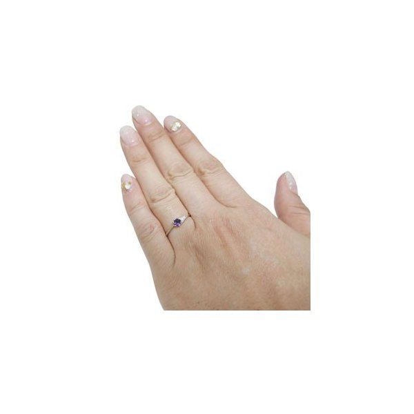 エンゲージリング アメジスト リング 婚約指輪 格安 プラチナ リング