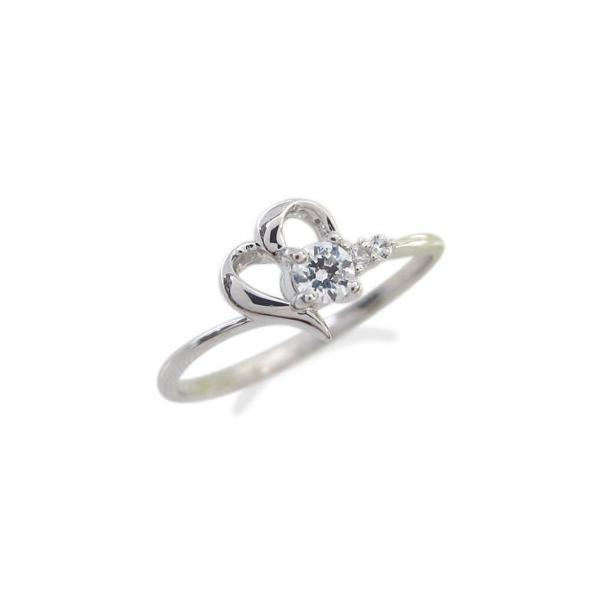 ダイヤモンド エンゲージリング プラチナ ハート リング 婚約指輪 安い