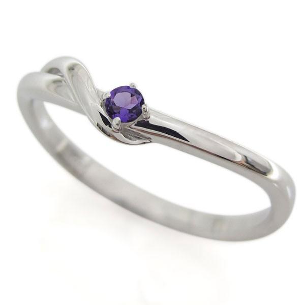 マリッジリング 結婚指輪 シルバー ペア 指輪 アメジスト 2月誕生石 安い