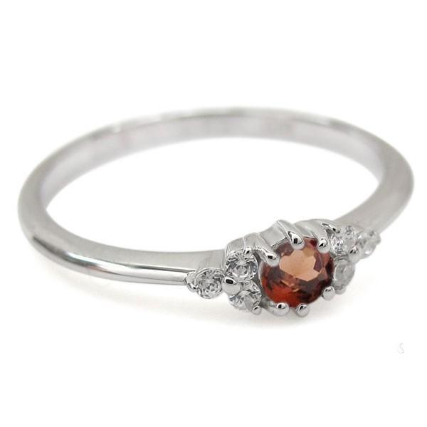 プラチナ ガーネット ピンキー ファランジリング 指輪キー ファランジリング 指輪
