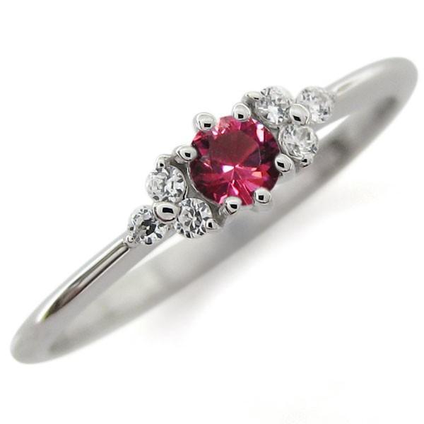 プラチナ ルビー ピンキー ファランジリング 指輪キー ファランジリング 指輪