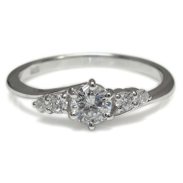 鑑定書 プラチナ ダイヤモンドリング SI 婚約指輪 安い 鑑定書付き 指輪