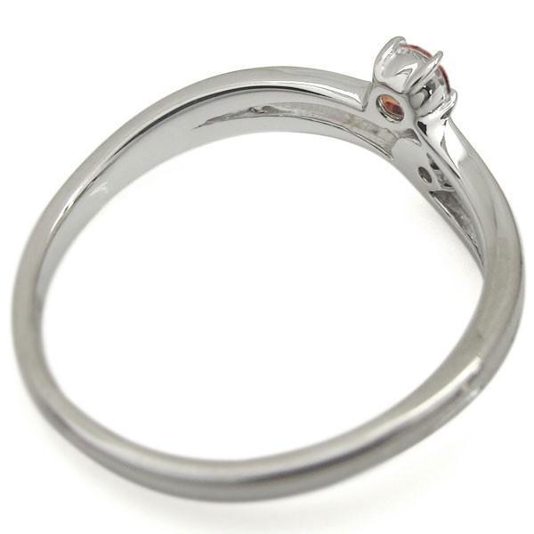 プラチナ ライン リング 婚約指輪 安い ガーネットリング シンプル エンゲージリング