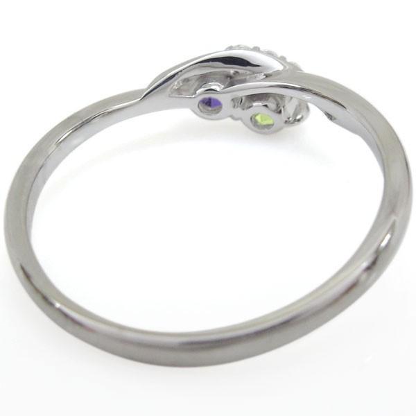 プラチナリング アメジスト リング エンゲージ 婚約指輪 安い