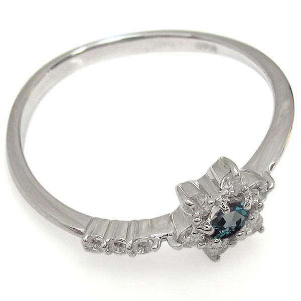 結婚記念日 アレキサンドライトリング 結婚10周年 流れ星 K18 婚約指輪