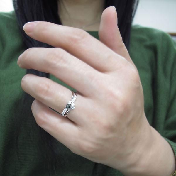 婚約指輪 アレキサンドライト 結婚10周年 V字 エンゲージリング