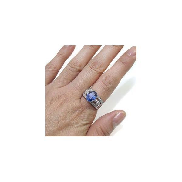 プラチナ タンザナイト リング 指輪 一粒 リング