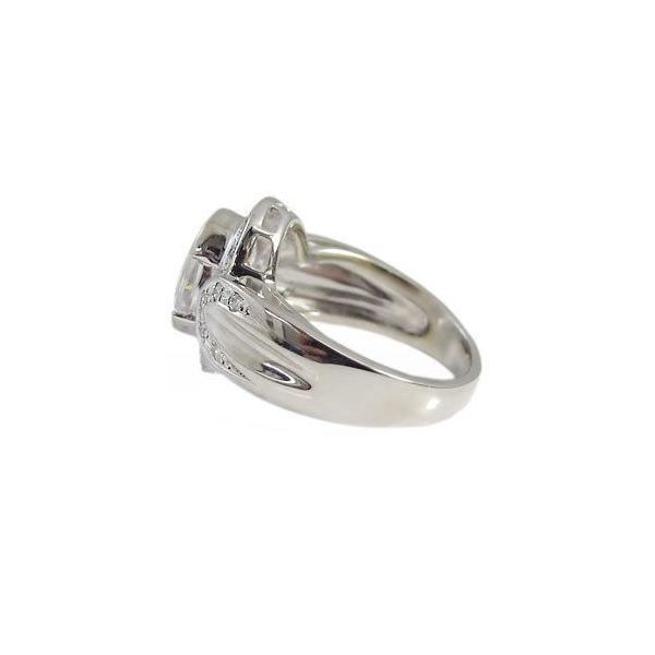 プラチナ 指輪 大粒 キュービックジルコニア リング ゴージャス