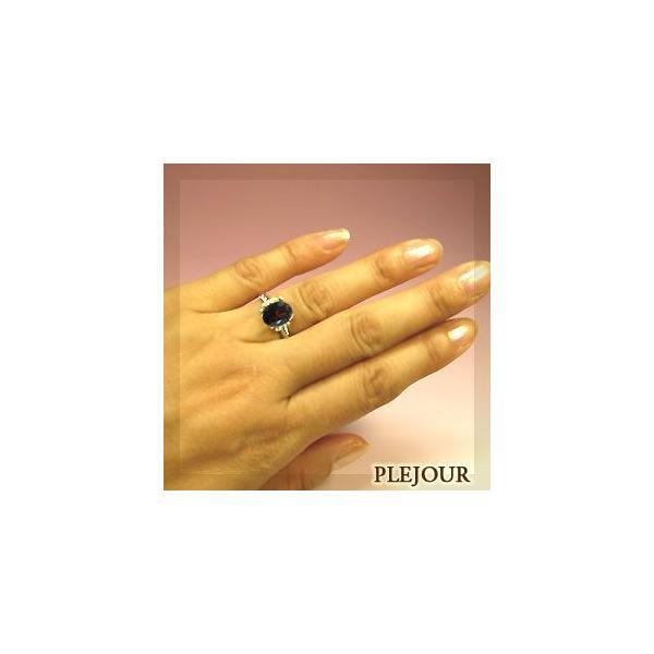 ガーネット プラチナリング ダイヤモンド 指輪