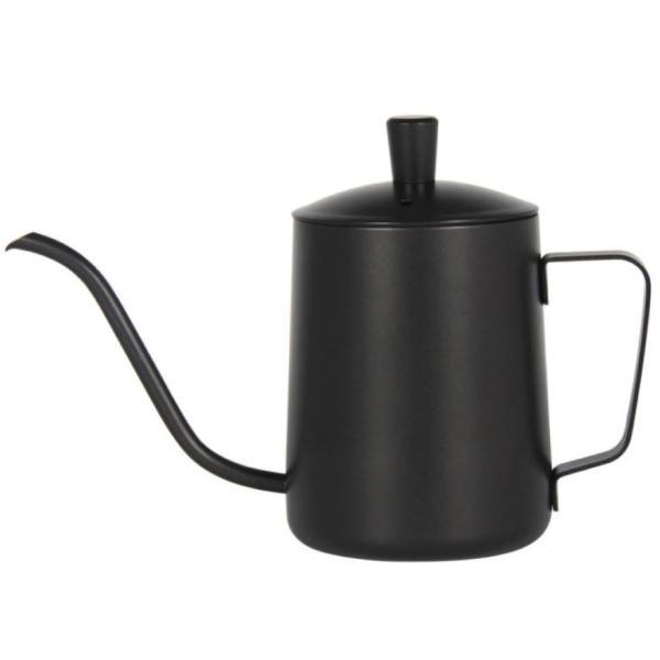 コーヒー ドリップポット (350ml)ステンレス ドリップケトル ハンドドリップ コーヒーポット ファイン口ポット ブラック plesant 04