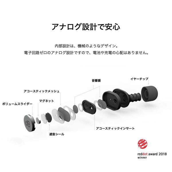dBud ディーバッド スライド操作で環境音を調節し、音をクリアにするイヤープラグ 耳栓|plu|05