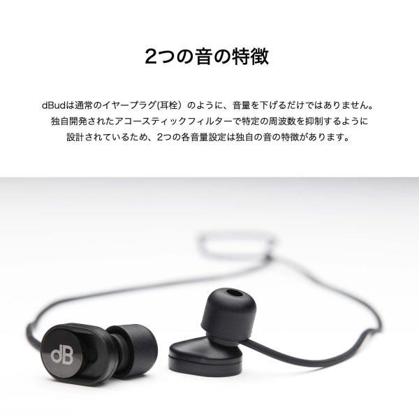 dBud ディーバッド スライド操作で環境音を調節し、音をクリアにするイヤープラグ 耳栓|plu|06