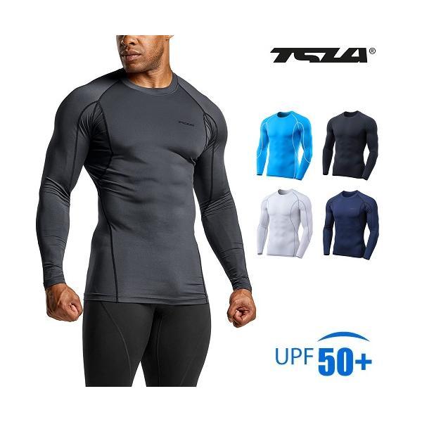 TESLA  テスラ オールシーズン スポーツシャツ コンプレッションウェア メンズ 長袖 MUD11|plum-net