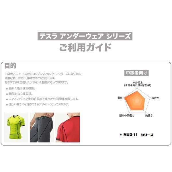 TESLA  テスラ オールシーズン スポーツシャツ コンプレッションウェア メンズ 長袖 MUD11|plum-net|02