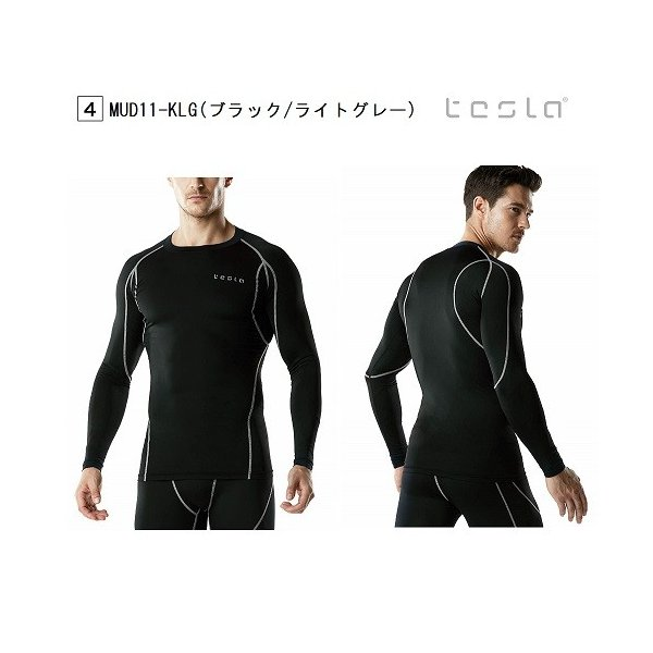 TESLA  テスラ オールシーズン スポーツシャツ コンプレッションウェア メンズ 長袖 MUD11|plum-net|06