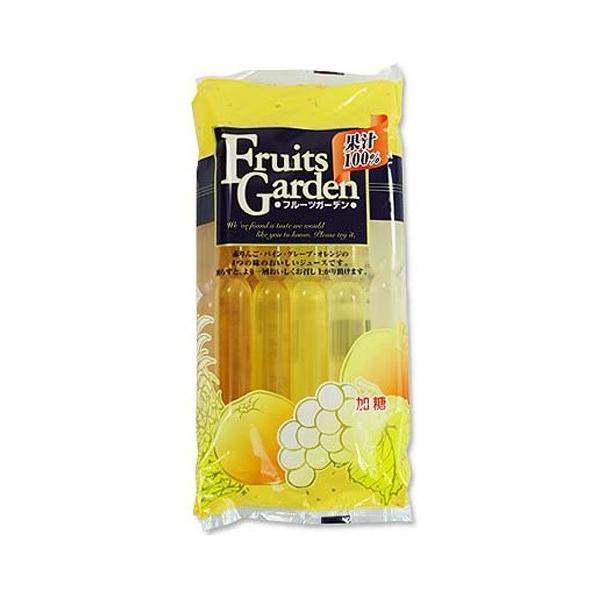 果汁100% フルーツガーデン 10Pチューペット りんご パイン グレープ オレンジ ポスト投函便 送料無料 ポイント消化 外袋開封して発送になります。